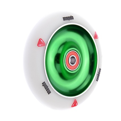 Anaquda Full Core 110mm Wheel - ABEC9 - white / green