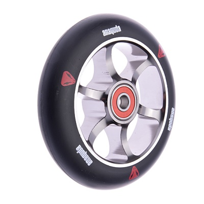 Anaquda Spoked 110mm Wheel - ABEC9 - black / titanium