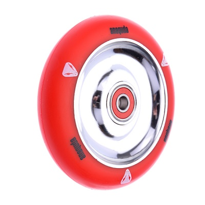 Anaquda Full Core 110mm Wheel - ABEC9 - red / silver
