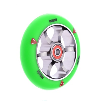 Anaquda Spoked 110mm Wheel - ABEC9 - green / titanium