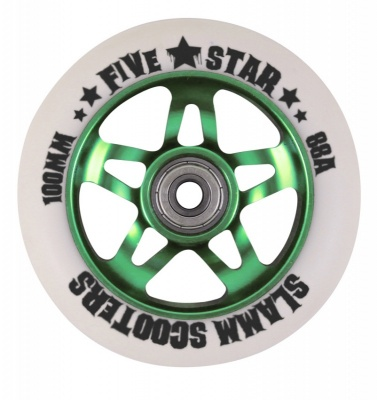 Slamm Five Star Metal Core Wheel + ABEC 7 Bearings - Green