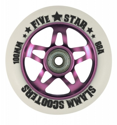 Slamm Five Star Metal Core Wheel + ABEC 7 Bearings - Pink