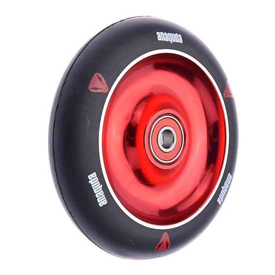 Anaquda Full Core 110mm Wheel - ABEC9 - black / red