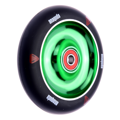 Anaquda Full Core 110mm Wheel - ABEC9 - black / green