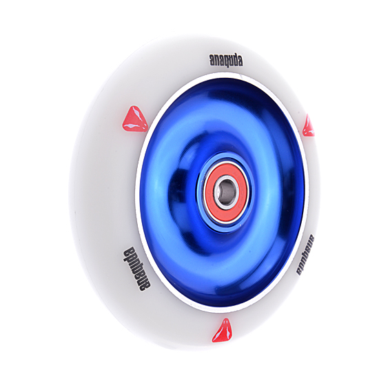 Anaquda Full Core 110mm Wheel - ABEC9 - white / blue
