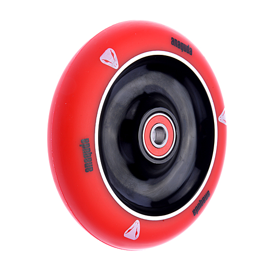 Anaquda Full Core 110mm Wheel - ABEC9 - red / black