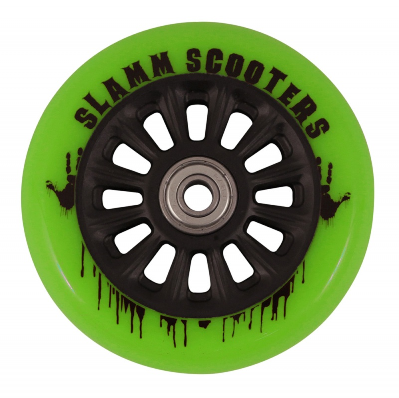 Slamm Nylon Core Wheel + ABEC 7 Bearings - Green