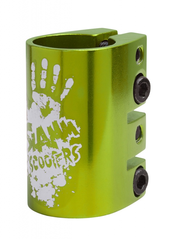 Slamm Scooter Anodized Quad Clamp - Green