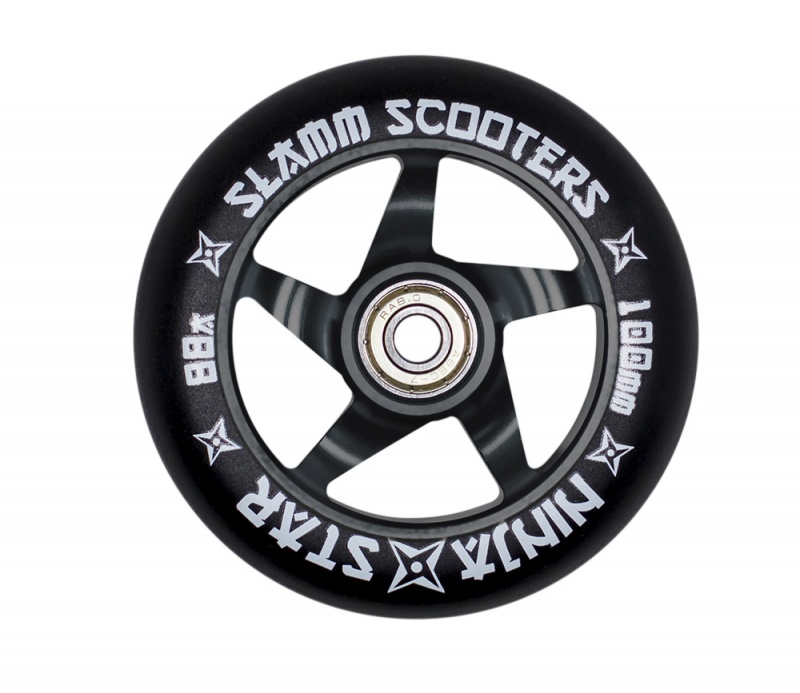 Slamm Ninja Star Metal Core Wheel + ABEC 7 Bearings - Black