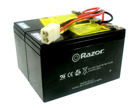 Razor E200/E300/Pocket Rocket (Red) Battery - RAZ096 - 7.2Ah Battery use with CT-201C6 Control Module
